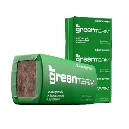 Утеплитель GreenTerm 50мм (1230х610х50мм, 16 плит, 12м2, 0.6м3)