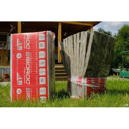 Каменная вата ISOROC Супер Теплый (1000х610х50мм, 10 плит, 6.1м2, 0.305м3)