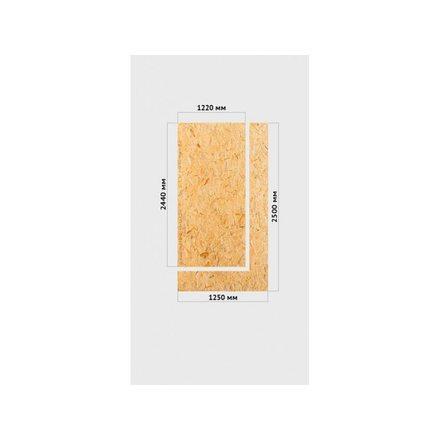 OSB-3 Кроношпан Плита влагостойкая 9мм 2440х1220