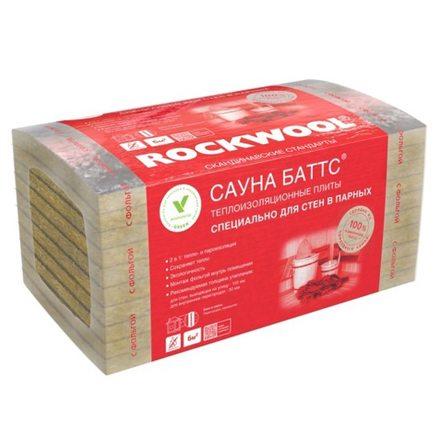 Утеплитель Rockwool Сауна Баттс (1000х600х50мм, 8 плит, 4.8м2, 0.24м3)